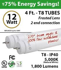 led fluorescent tube replacement wiring diagram led 2 foot led tube light bulb 12 watt t8 1800lm 5000k frosted lens on led fluorescent wiring diagram