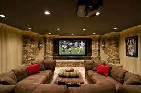 Basement Theater Design Ideas Cool Home Interior 2017 Throughout Simple