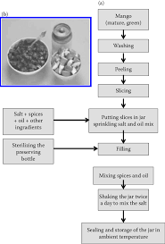 Industrial Production Of Vinegar Flow Chart 5 A Flow Chart Of Mango Pickle Preparation B Mango