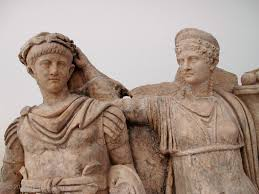 Ancient Roman Hair Style nero and agrippina it appears that nero is being crowned with a 4773 by wearticles.com