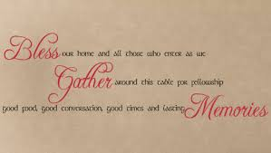 bless our home gather memories wall decal on bless our home wall art with bless my home gather memories