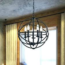 black iron chandelier wrought chandeliers round marvelous metal farmhouse orb
