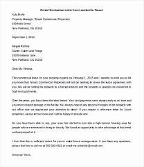 Terminate A Lease Letter Letter To Landlord To Terminate Lease New Early Lease