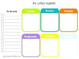 Free Printable Work Schedule Calendar Weekly Calendars Free Printable Planner Timetable Template