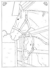 Kids N Fun Kleurplaat Op De Manege Paard Op Stal