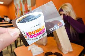 a dunkin donuts gift card