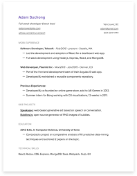 Bonus #2: Simple resume template on Google Docs