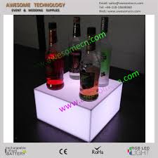 Bar Bottle Display Stand 100 colors changing 100 tier acrylic display led liquor wine bottle 72