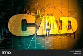 Canadian Dollar Trading Chart Forex Candlestick Image Photo Free Trial Bigstock