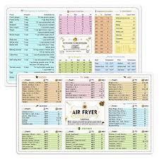 Air Fryer Magnetic Cheat Sheet Cookbook Cooker Accessories