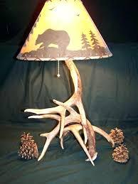 deer antler lamp shades intertwined antler deer table lamp shade rustic lake cabin deer antler table