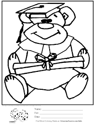 Kindergarten Graduation Coloring Pages Free Printable Preschool Graduation Coloring Pages With Kindergarten