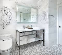 White Mosaic Bathroom Mosaic Floor Tile Patterns Bathroom Contemporary With Art Black