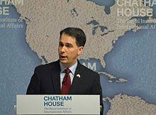 Governor Walker speaking at the Chatham House in London, UK in 2015