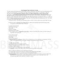 call center representative job analysis job analysis data collection format docx