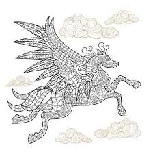 Playful Pegasus Coloring Page Free Adult Coloring Book Pages