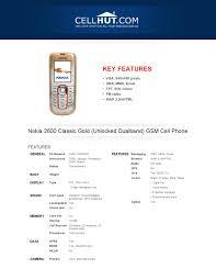 Nokia 2600 Classic Unlocked -Features ...