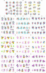 $0.2/pc+Ble 100Pcs/lot Nail Art Water Transfers Stickers Decals ...