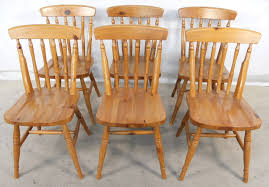 vintage wooden dining chairs pine intended for plans 5