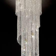 large modern italian stairwell chandelier