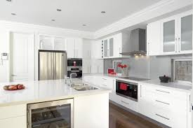 Shiny White Kitchen Cabinets Los Angeles Images