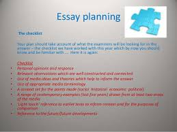 planning an a media studies answer essay