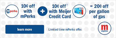 10 off with mperks 10 off with meijer credit card 20