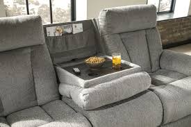 Ashley Mitchiner Reclining Sofa with Drop Down Table ...