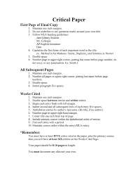 Critical Paper First Page Of Final Copy