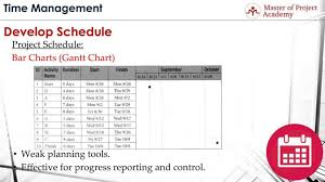 Activity Chart Format The 3 Most Common Formats For Creating The Project Schedule
