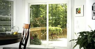 sliding patio door backyard outside glass locks doors