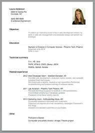 Resume Sample For A Job Resume Sample With Work Experience ...