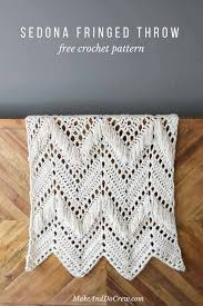 Crochet Free Patterns Mesmerizing Sedona Fringed Crochet Throw Free Pattern From Make Do Crew