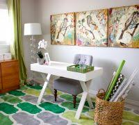 white airy home office. shabby chic office home contemporary with transitional white desk chairs airy