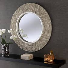 Small Picture Rome Large Round New Wall Mirror Modern Light Champagne Silver