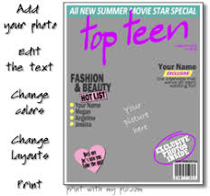 Print Magazine Cover Photos Your Picture In A Printable Magazine