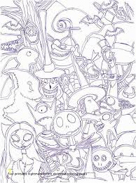 Nightmare Before Christmas Printable Coloring Pages The Nightmare