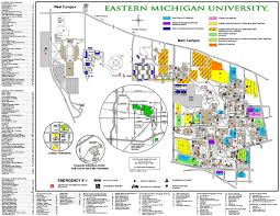 Eastern Michigan University Convocation Center Seating Chart Eastern Michigan University Map Eastern Michigan