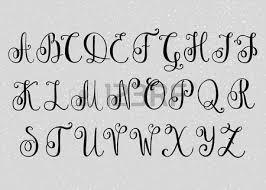 handwritten brush flourish font capital letters modern calligraphy alphabet isolated letter elements