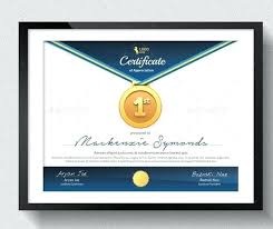 Sport Certificate Sample Sports Template Free Download