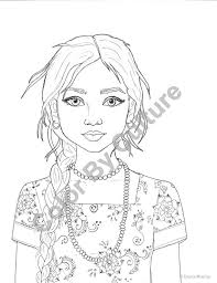 Indian Woman Coloring Page At Getdrawingscom Free For Personal