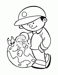 Love And Save The Earth Earth Day Coloring Page For Kids Coloring