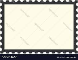 Stamps Template Black Postage Stamp Template