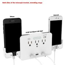 Outlet Night Light Details About 3 Usb Ports Ac Outlet Socket Wall Mount Night Light Power Strip W Qc 3 0 Us Plug