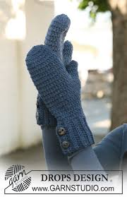 <b>Winter</b> Classic <b>Mittens</b> / DROPS 126-22 - Free crochet patterns by ...