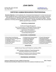 Entry Level Human Resources Resume From 40 Best Human Resources Hr Stunning Entry Level Human Resources Resume