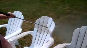 patio furniture white. How To Clean Your Outdoor Plastic Patio Furniture In Less Than 2 Minutes White