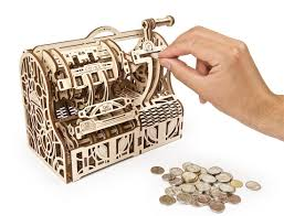 Ugears Mechanical Model | The Cash Register wooden puzzle and construction  kit