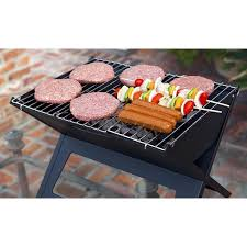 portable charcoal bbq grill small folding smoker camping camper barbecue picnic