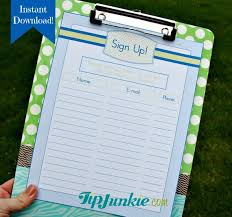 Name And Email Sign Up Sheet Extraordinary 48 Sign Up Sheets Potluck Snack Church Sports School Etsy